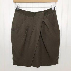 Fei Anthropologie Silk Blend Tulip Pencil Skirt 2